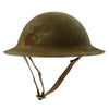 show larger image of product view 7 : Original U.S. WWI M1917 37th Engineer Battalion Doughboy Helmet With Textured Paint Original Items
