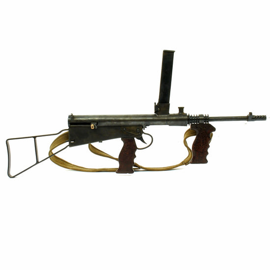 Original Australian WWII Owen MK1 Machine Carbine SMG Display Gun - Dated 1942 - Serial 7696