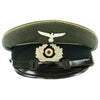show larger image of product view 1 : Original German WWII Wehrmacht Army Heer Named Infantry NCO EM Visor Cap - Size 58 Original Items