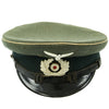 show larger image of product view 4 : Original German WWII Wehrmacht Army Heer Named Infantry NCO EM Visor Cap - Size 58 Original Items