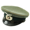 show larger image of product view 2 : Original German WWII Wehrmacht Army Heer Named Infantry NCO EM Visor Cap - Size 58 Original Items