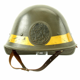 Original Dutch WWII Model 1934 Army Anti-Aicraft Helmet with Helmet Plate