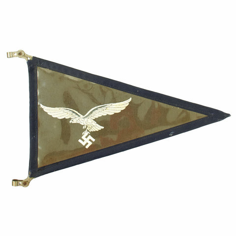 Original German WWII Luftwaffe Officer Vehicle Automobile Rigid Fender Pennant Flag