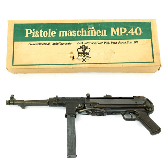 Original German WWII Replica MP 40 Cap Plug Firing Submachine Gun by MGC Japan with Box