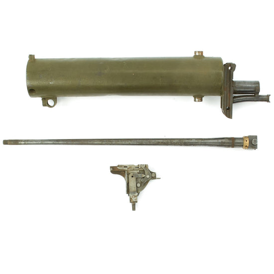 Original German WWI Maxim MG 08 Spare Parts Grouping - Water Jacket with Barrel and Lock Original Items
