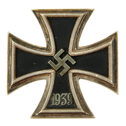 Original German WWII Iron Cross First Class 1939 with Pinback by Klein & Quenzer A.G. of Idar-Oberstein - EKI Original Items