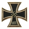 show larger image of product view 1 : Original German WWII Iron Cross First Class 1939 with Pinback by Klein & Quenzer A.G. of Idar-Oberstein - EKI Original Items