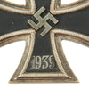 show larger image of product view 3 : Original German WWII Iron Cross First Class 1939 with Pinback by Klein & Quenzer A.G. of Idar-Oberstein - EKI Original Items