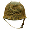 show larger image of product view 1 : Original U.S. WWII 1942 M1 McCord Front Seam Fixed Bale Helmet with Rare Inland Liner and Helmet Net Original Items