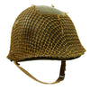 show larger image of product view 2 : Original U.S. WWII 1942 M1 McCord Front Seam Fixed Bale Helmet with Rare Inland Liner and Helmet Net Original Items