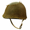 show larger image of product view 4 : Original U.S. WWII 1942 M1 McCord Front Seam Fixed Bale Helmet with Rare Inland Liner and Helmet Net Original Items