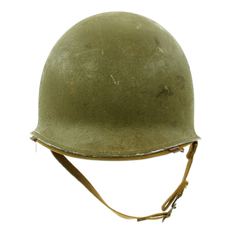 Original U.S. WWII Early 1942 M1 McCord Fixed Bale Front Seam Helmet with Rare Hawley Paper Liner Original Items
