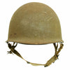 show larger image of product view 3 : Original U.S. WWII 1944 M1 McCord Swivel Bale Front Seam Helmet with Converted Paratrooper Liner Original Items