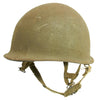 show larger image of product view 4 : Original U.S. WWII 1944 M1 McCord Swivel Bale Front Seam Helmet with Converted Paratrooper Liner Original Items
