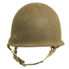 show larger image of product view 6 : Original U.S. WWII 1944 M1 McCord Swivel Bale Front Seam Helmet with Converted Paratrooper Liner Original Items