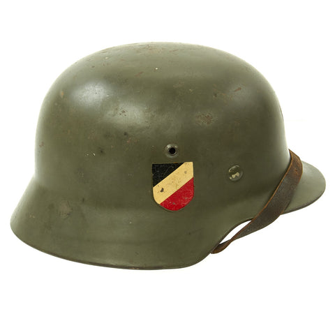 Original German WWII Army Heer M35 Double Decal Helmet with 1939 Dome Stamp and 57cm Liner - ET64