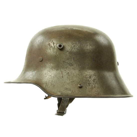Original Imperial German WWI M16 Stahlhelm Army Helmet Shell with Liner and Chinstrap - marked ET66
