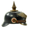 show larger image of product view 4 : Original Imperial German WWI Prussian Garde Corps Steel Pickelhaube Helmet with Chin Strap - Metalhelm Original Items