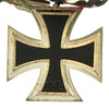 show larger image of product view 6 : Original WWII German Medal Bar with Iron Cross 2nd Class 1939 and War Merit Cross 2nd Class with Swords Original Items