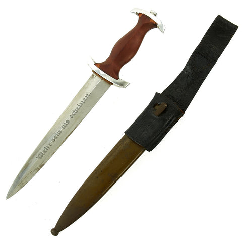 Original German WWII NPEA Student Dagger with Scabbard and Frog by Karl Burgsmüller of Berlin