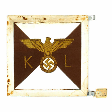 Original German WWII NSDAP Kreisleiter Vehicle Pennant - RZM Marked - Unissued Original Items