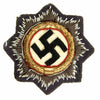 show larger image of product view 1 : Original German WWII Luftwaffe Gold 1941 German Cross Award Embroidered Cloth Badge in Blue Original Items