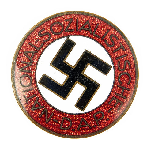 Original German NSDAP Party Enamel Membership Badge Pin by Wilhelm Deumer - RZM M1/120 Original Items