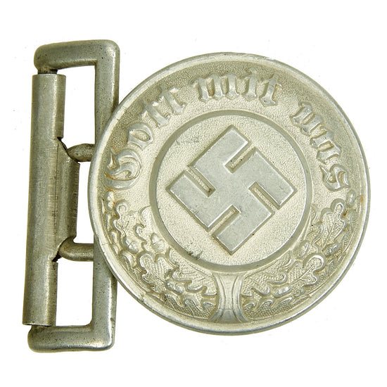 Original German Pre-WWII NSDAP Police Officer's Belt Buckle by F. W. Assmann & Söhne - dated 1937 Original Items