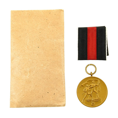 Original German WWII Unissued 1 October 1938 Commemorative Sudetenland Medal in Packet Original Items