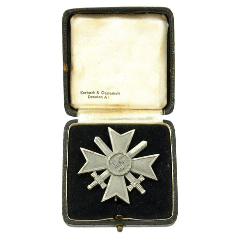 Original German WWII War Merit Cross KvK 1st Class with Swords by Otto Schickle with Non-matched Case Original Items