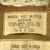 show larger image of product view 9 : Original U.S. Vietnam War M-1952A Flak Body Armor Vest by Stein Bros - Dated 1953
