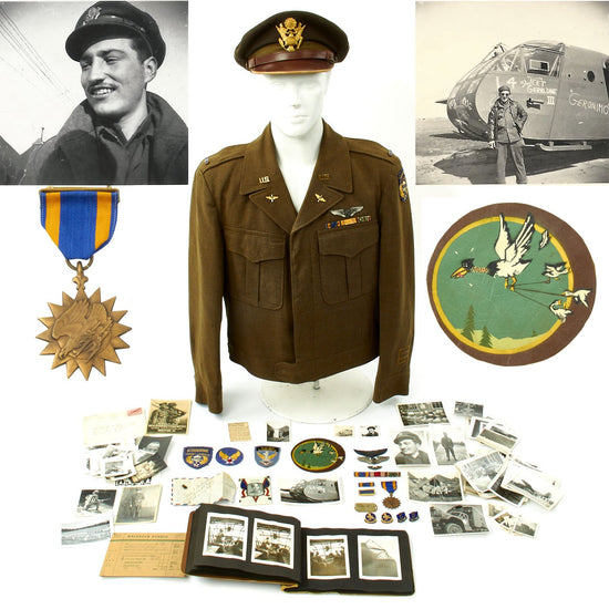 Original U.S. WWII 91st Troop Carrier Squadron Named Glider Pilot Grouping Original Items