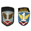 show larger image of product view 1 : Original U.S. WWII British Made 1st Allied Airborne Patch Pair - Bullion and Cloth Original Items