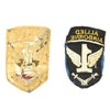 show larger image of product view 2 : Original U.S. WWII British Made 1st Allied Airborne Patch Pair - Bullion and Cloth Original Items
