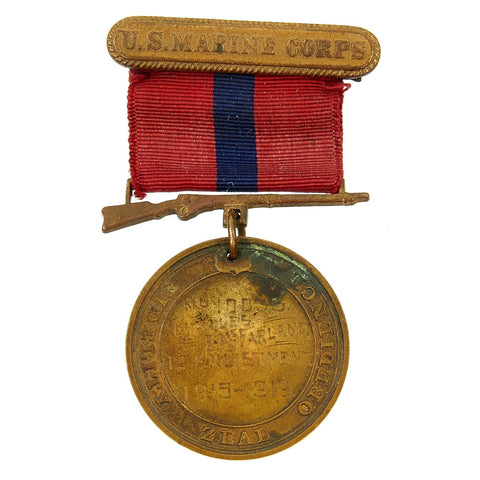 Original U.S. WWI 5th Marines Named Good Conduct Medal - Charles E. McFarland Original Items
