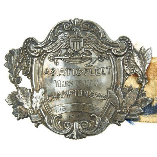 Original U.S. Navy 1931 Asiatic Fleet Lightweight Wrestling Championship Belt