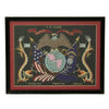show larger image of product view 1 : Original U.S. China Marine Named Framed Silk Embroidered Remembrance Scroll - Tobin Original Items