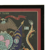 show larger image of product view 4 : Original U.S. China Marine Named Framed Silk Embroidered Remembrance Scroll - Tobin Original Items