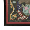 show larger image of product view 6 : Original U.S. China Marine Named Framed Silk Embroidered Remembrance Scroll - Tobin Original Items