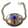 show larger image of product view 5 : Original U.S. WWII China Burma India Silver Enamel Bracelet Collection Original Items
