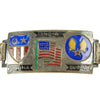 show larger image of product view 8 : Original U.S. WWII China Burma India Silver Enamel Bracelet Collection Original Items