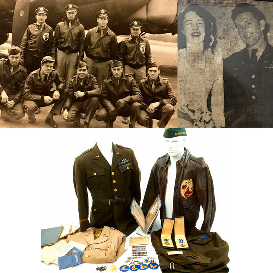 Original U.S. WWII Named Navigator 327th Bomb Squadron Uniform Grouping - Distinguished Flying Cross
