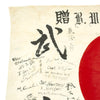 "show larger image of product view 4 : Original Japanese WWII Good Luck Flag Converted to Occupation Forces Farewell Flag - 78"" x 52"" Original Items"