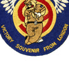 show larger image of product view 2 : Original U.S. WWII 9th Army Air Force 1945 Souvenier Patch From London Original Items