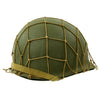 show larger image of product view 5 : Original U.S. WWII M1 McCord Fixed Bale Front Seam Helmet with Net and MSA Liner Original Items