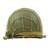show larger image of product view 6 : Original U.S. WWII M1 McCord Fixed Bale Front Seam Helmet with Net and MSA Liner Original Items