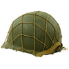show larger image of product view 2 : Original U.S. WWII M1 McCord Fixed Bale Front Seam Helmet with Net and MSA Liner Original Items