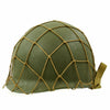 show larger image of product view 7 : Original U.S. WWII M1 McCord Fixed Bale Front Seam Helmet with Net and MSA Liner Original Items