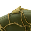 show larger image of product view 9 : Original U.S. WWII M1 McCord Fixed Bale Front Seam Helmet with Net and MSA Liner Original Items
