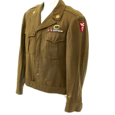 Original U.S. WWII 555th Parachute Infantry Battalion Triple Nickels Ike Jacket Original Items